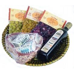 Dárkový koš olivový Agia