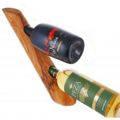 Stojan na 2 láhve vína z olivového dřeva