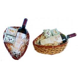 Dárkové srdce s červeným vínem a dvěma druhy mýdel