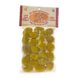 Řecké zelené olivy plněné česnekem 150g