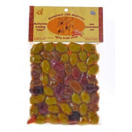 Řecké olivy míchané pálivé 250g