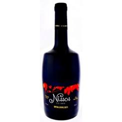 Červené suché víno Nissos 2014