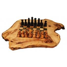 Dřevěné šachy z olivového dřeva 25cm