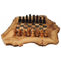 Dřevěné šachy z olivového dřeva 30cm