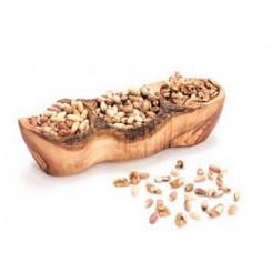 Miska z olivového dřeva se třemi místy